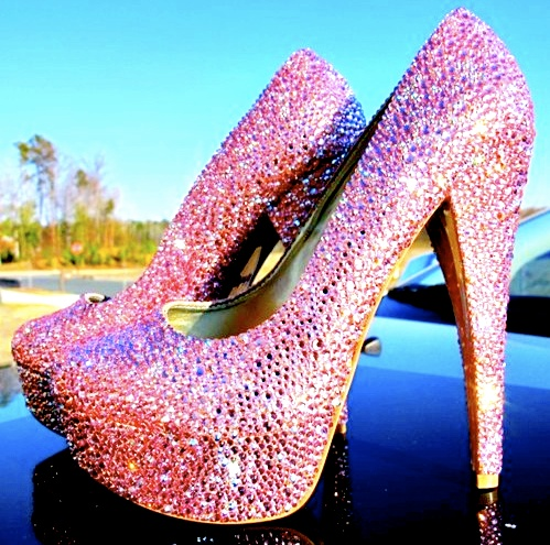 31 best Pink sparkly heels images on Pinterest | Sparkly heels ...