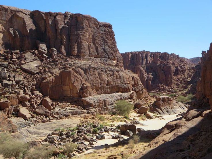 Wadi Archei in the Ennedi Mountains, Chad, Central Africa, offers excellent hiking possibilities.