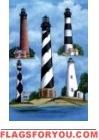 Outer Banks Lighthouses House Flag