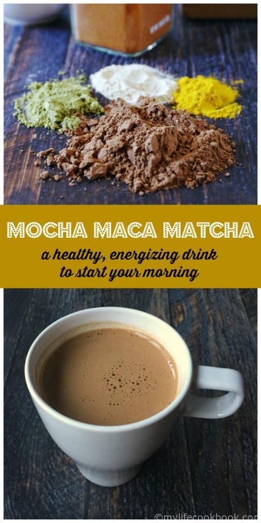 Mocha Maca Matcha - the perfect healthy pic me up drink to start your morning.
