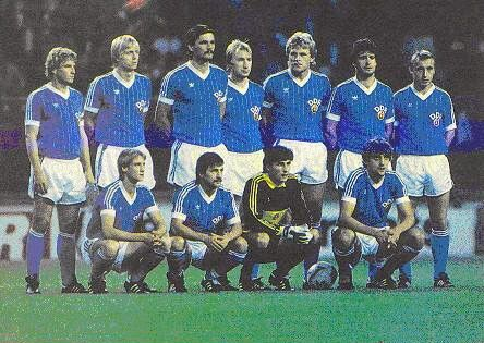 East Germany team group in 1984.