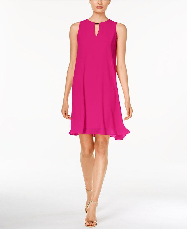 Vince Camuto Sleeveless Keyhole Flyaway Dress - Dresses - Women - Macy's