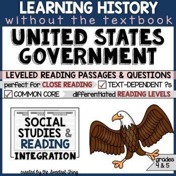 United States Government - This resource is perfect for teaching and practicing close reading skills in complex texts. It can also be used during guided reading groups!........................................................................................................................................................NOTE: Download the preview for a free sample of a high-level passage + ...