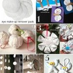 5 great ideas for winter decorations from eye make-up remover pads