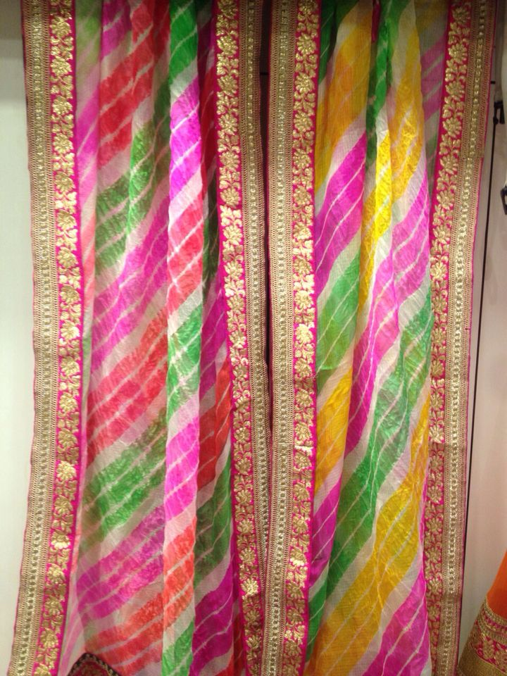 Silk Kota Lehariya duppatas by Araina Fabs Mount Abu contact 09983401578