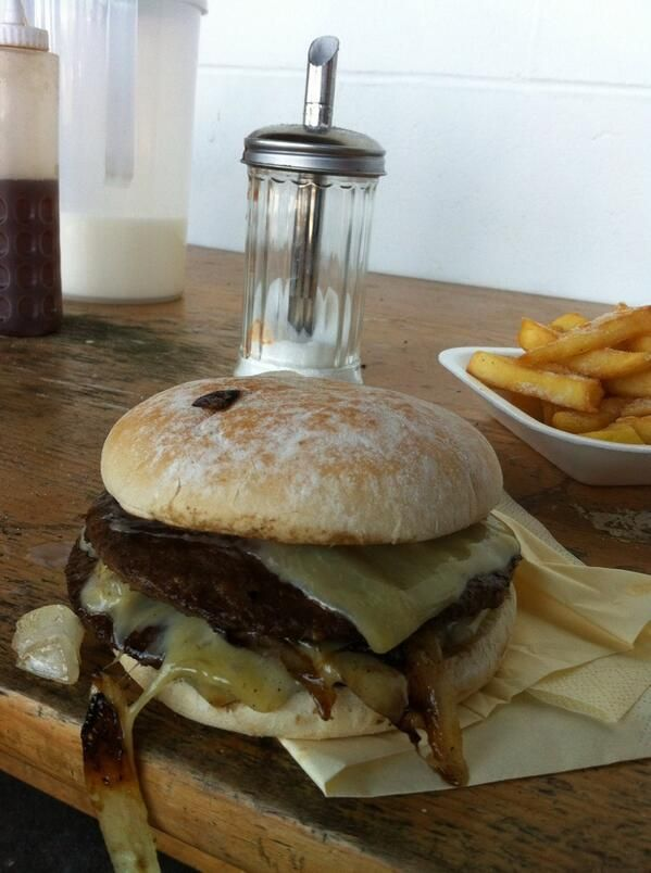 Margate FC. A fine double cheeseburger.