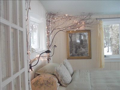 have loved this idea of lighted branches since one of my friends from school had one in her room as a light source! Love, Love, Love it!