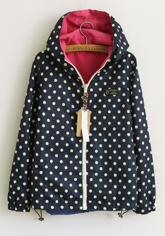 Reversible rain coat, pretty darn cute if you ask me