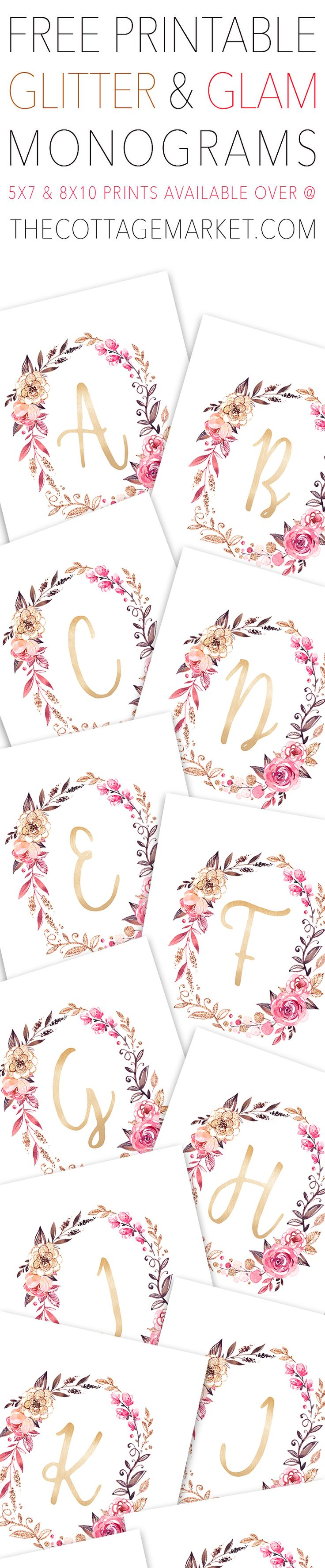 Glitter and Glam Monogram Wall Art
