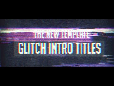 after effects template glitch titles intro free download youtube