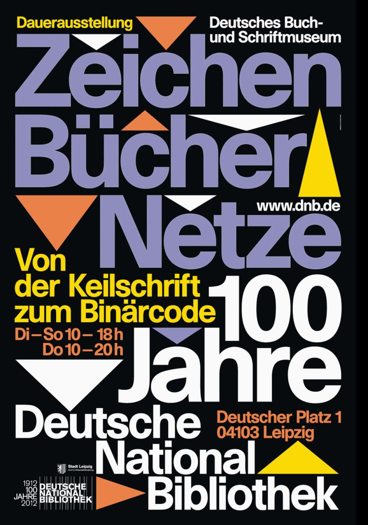 Zeichen Bücher Netze at Deutsche Nationalbibliothek - Fonts In Use