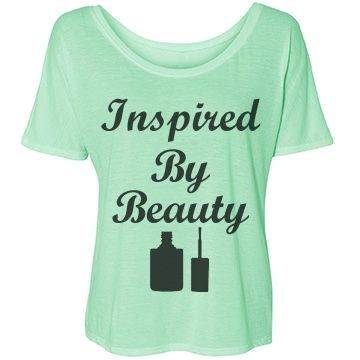 Inspired By Beauty Bella Flowy T-Shirt: SarahBe Designs #customizedgirl #inspire #beauty #beautiful #makeup
