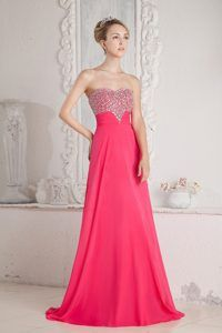 Empire Beaded Sweetheart Angel Prom Long Dresses Made in Chiffon