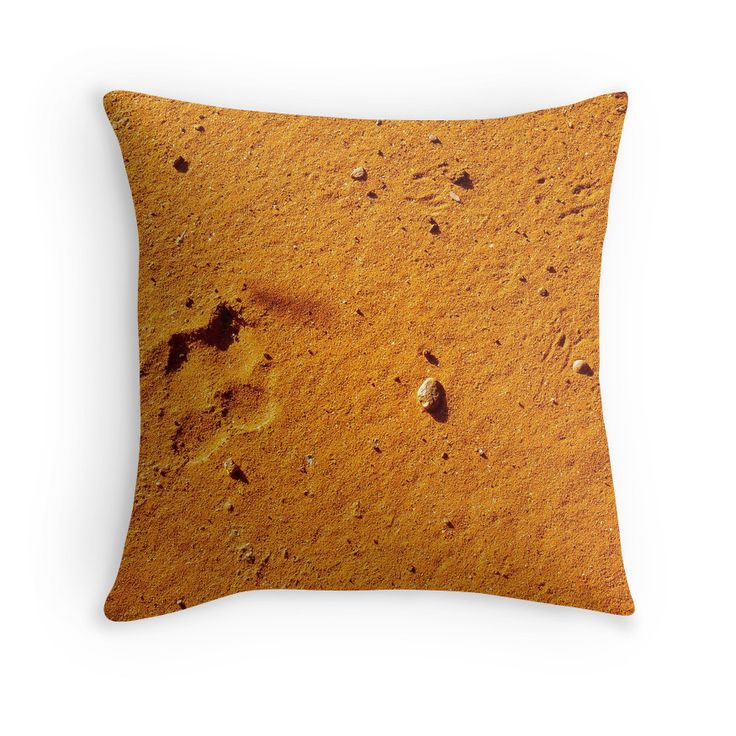 """""""Dirt Bag"""" Throw Pillows with dingo paw print by darkydoors 