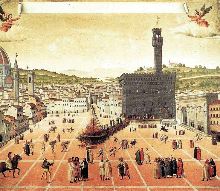 Площадь Синьории во Флоренции в 1498 году и Савонарола: gorbutovich