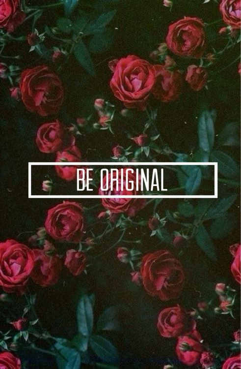 Be original. Don't copy someone else's things and make them your own. Use your own ideas not someone else's. You were born an original don't die a copy.