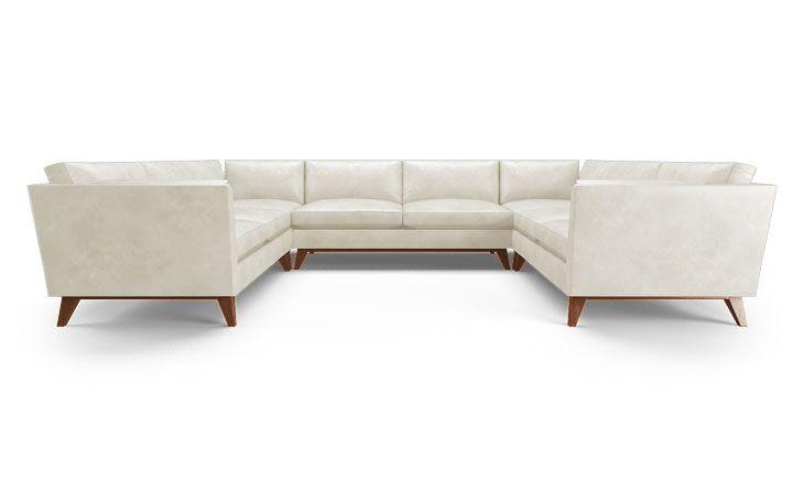 Roller Leather USofa Sectional Sectional sofa, Sofa