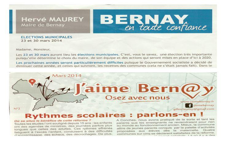 Les élections municipales 2014 ont démarrées à Bernay...