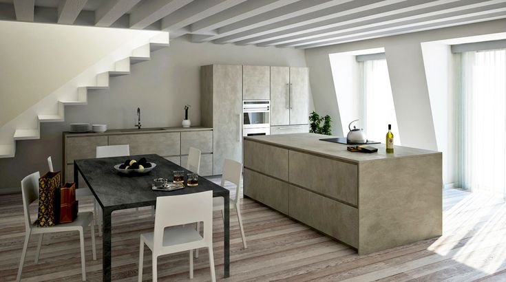 Awesome Concrete furniture: ideas for home decor. Twenty Cemento kitchen, Andrea Bassanello, Modulnova, 2012 |