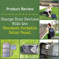 Charge Your Devices With the Cheotech Portable Solar Panel  Giveaway #prepper #survival