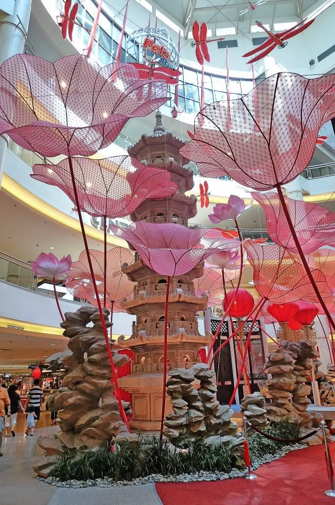 Pagoda, Flowers, And Dragonflies. 2010 Chinese New Year Decorations