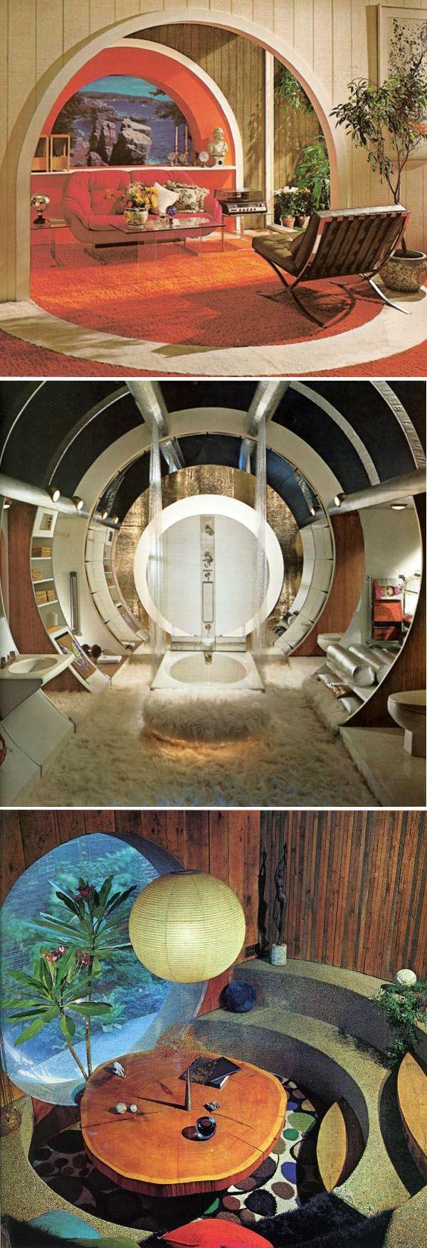1960's & 70's home interiors - soooo cool! Love the bathroom!!