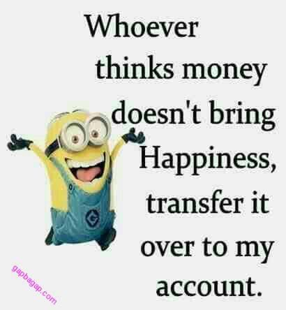 Funny Joke About Monies By Minions