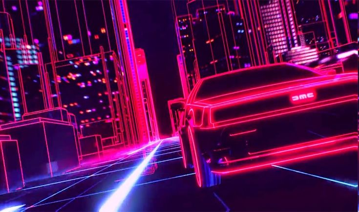 Download hd wallpapers of 298023-New Retro Wave, Synthwave, 1980s, Neon, DeLorean, Car, Retro Games. Free download High Quality and Widescreen Resolutions