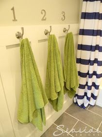 Kids Nautical Bathroom, love the pop of green