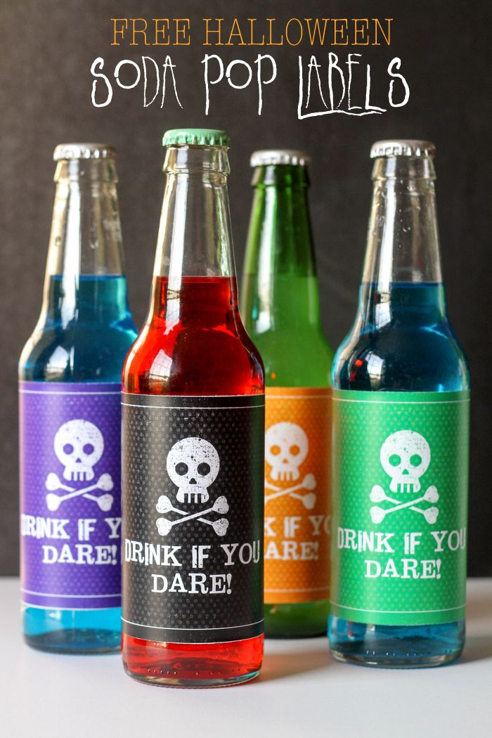 FREE Halloween Soda Pop Labels - perfect for your next party or even for a gift. Get the FREE Prints on { lilluna.com }