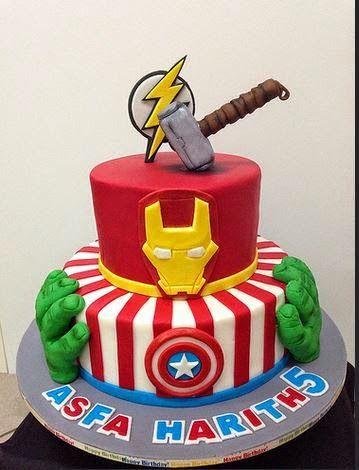 53 best superhero party images on Pinterest Avenger cake