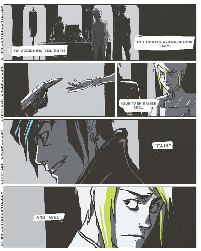 Starfighter - Chapter 1: Page 01 Online SciFi gay comic/Yaoi (VERY NSFW)