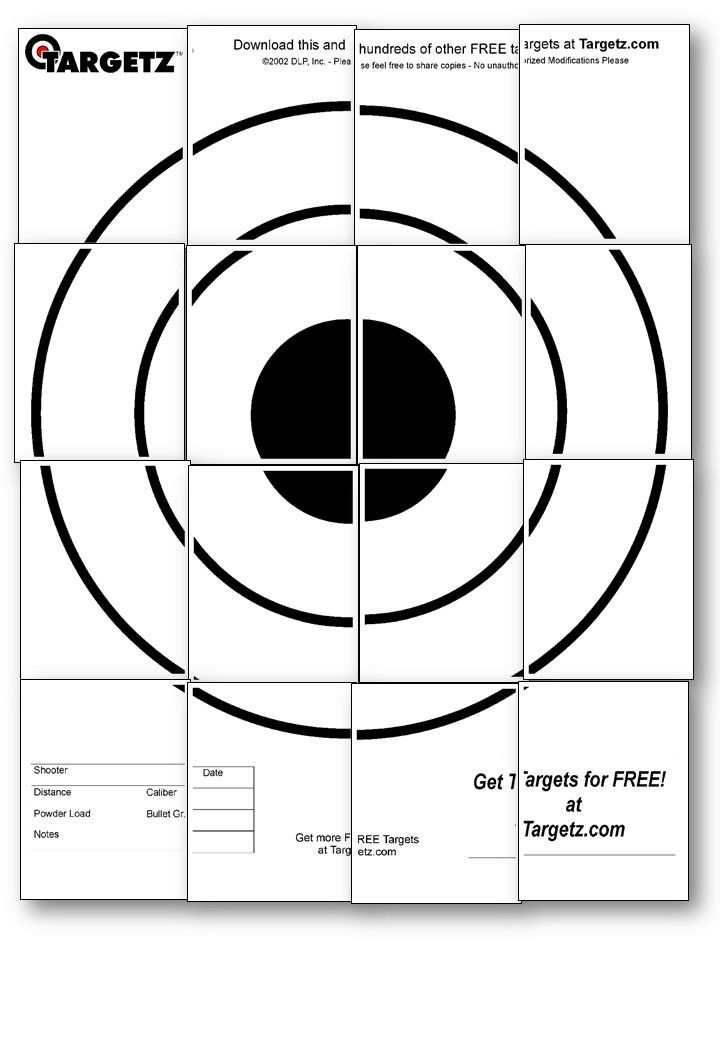118 best free printable shooting targets images on