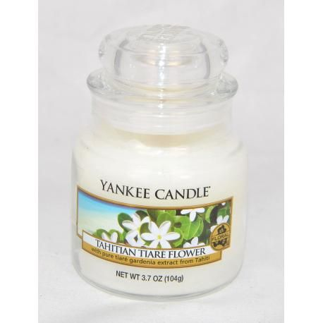 bougie parfum e small jar tahitian tiare flower yankee candle exclu us bougies yankee candle. Black Bedroom Furniture Sets. Home Design Ideas