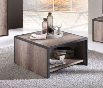 Table basse rectangulaire ou carrée contemporaine TESSA, coloris chêne grisé Table basse carrée HCOMMEHOME-12