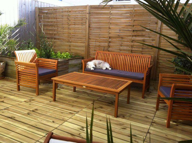 Terrasse en bois de palettes
