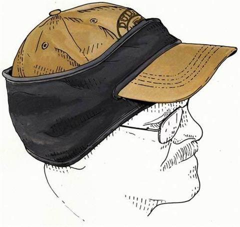 Fleece Ear Warmers - Mens Ball Cap Earband