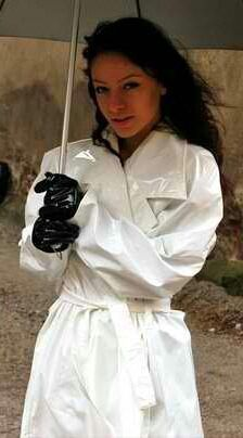 White PVC Raincoat