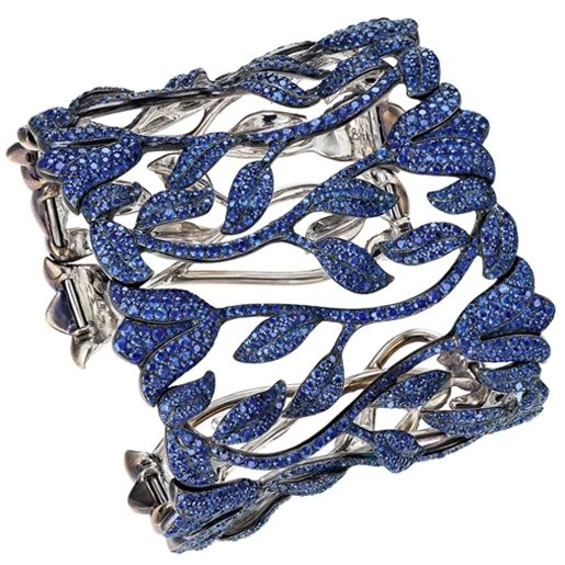 Sapphire bracelet by Chopard ~ this is soooo me!!!  Sapphire Tulips!!  Yep, that would make me very happy...