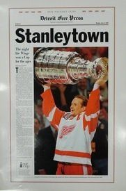 Detroit Red Wings Detroit Free Press Stanleytown poster from 1997 Championship team.