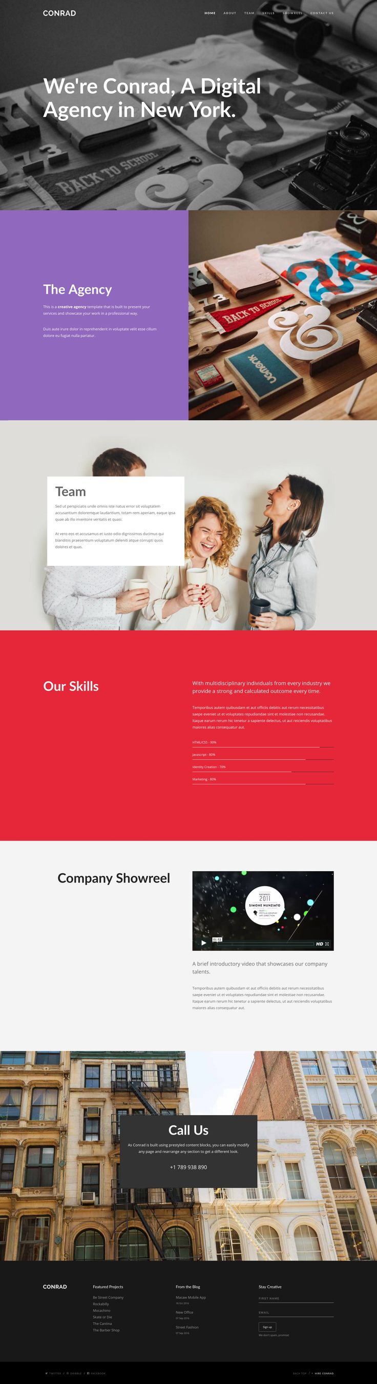 417 best one page website templates images on pinterest
