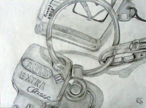 Paper - Pencil - Pocket still life - Detail - Macro - DinA3 #Drawing #regillustroessner