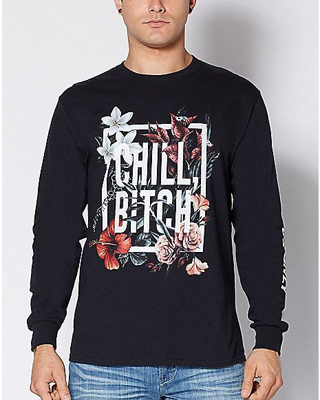 c7e8486f Chill Bitch Floral Sweatshirt - Spencer's | / / Clothes ...