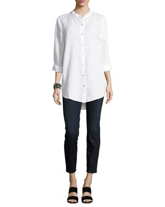 Organic+Cotton+Soft+Stretch-Denim+Leggings+and+Matching+Items+by+Eileen+Fisher+at+Neiman+Marcus.