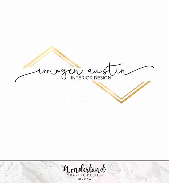 Pre Made Logo Modern Black And Gold Chevron Design