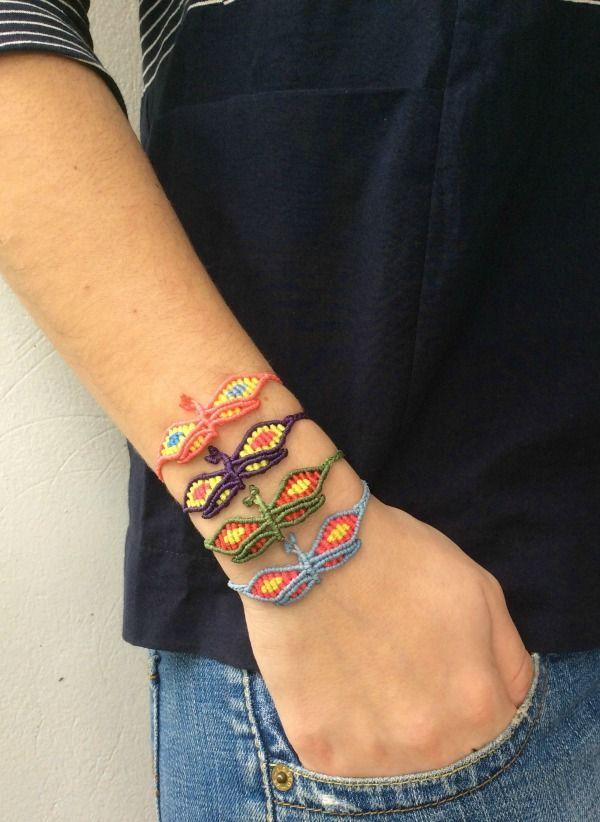 #zayiana Butterfly Macrame bracelet :-) More colours at : http://www.zayiana.com/product/butterfly-macrame/