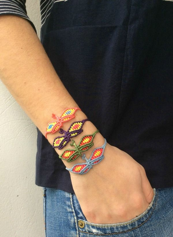 #zayiana Butterfly Macrame bracelet :-) More colours at : http://www.zayiana.com/product/butterfly-macrame/