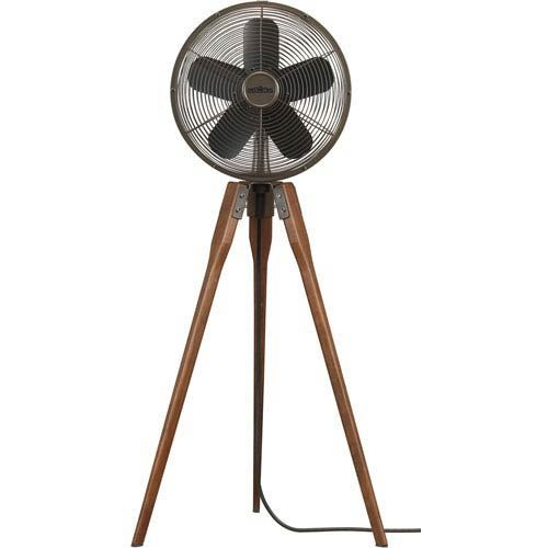Arden Oil Rubbed Bronze 220 Volt Oscillating Floor Fan With Black Blades Fanimation