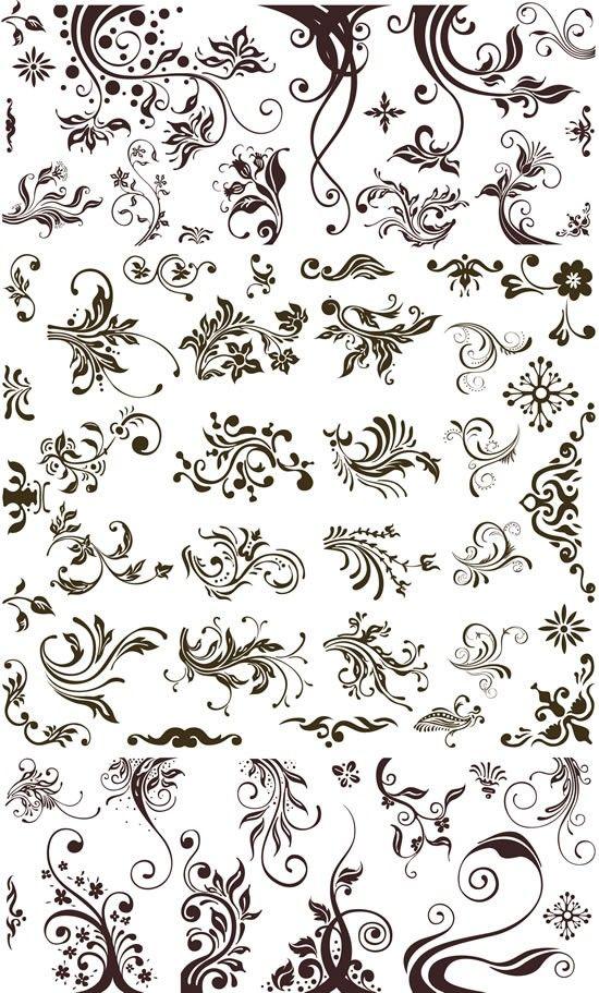 植物 花纹 橡皮章