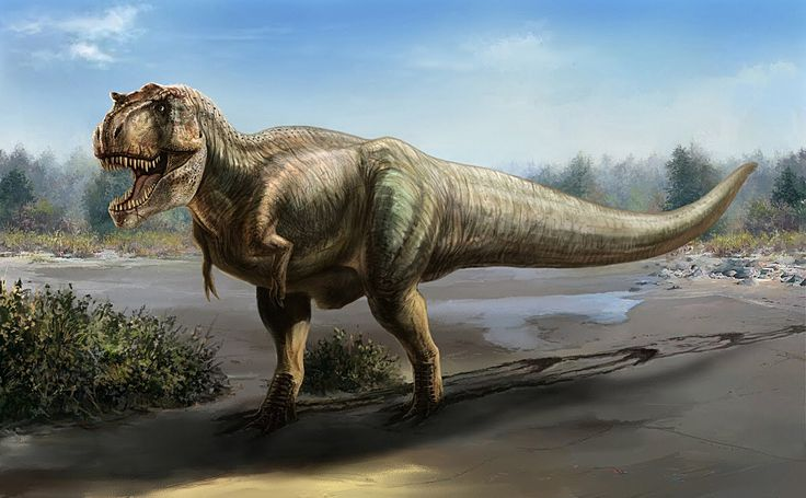 A breathtaking painting of a Tyrannosaurus rex by Cheung Chung Tat